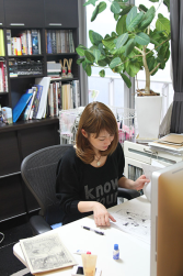 Miki Yoshikawa at work.